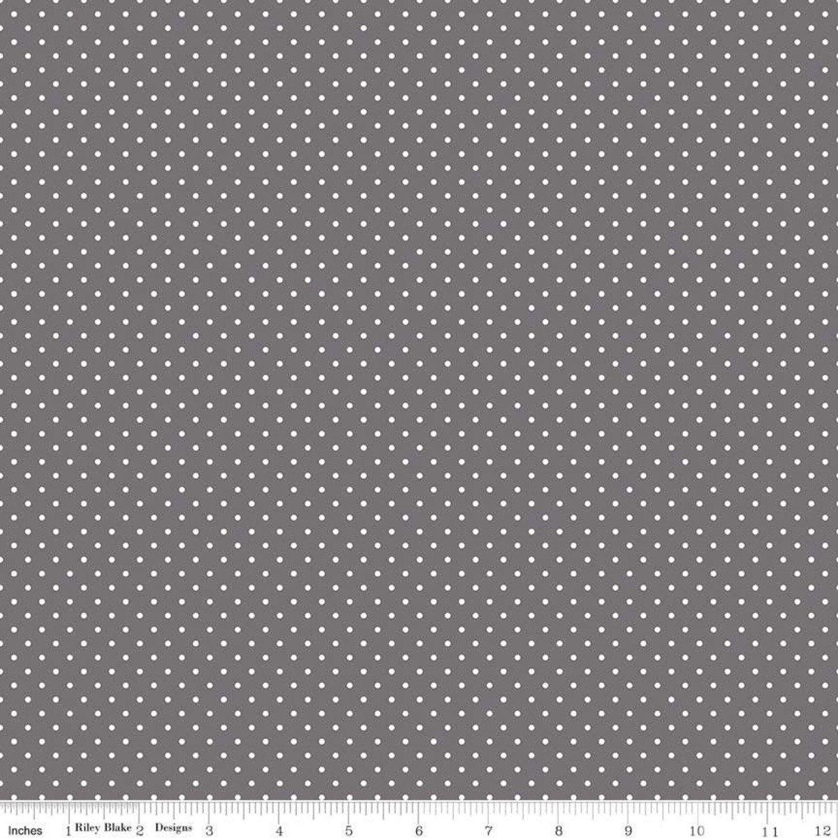 Riley Blake Designs, Swiss Dot - Swiss Dot Steel