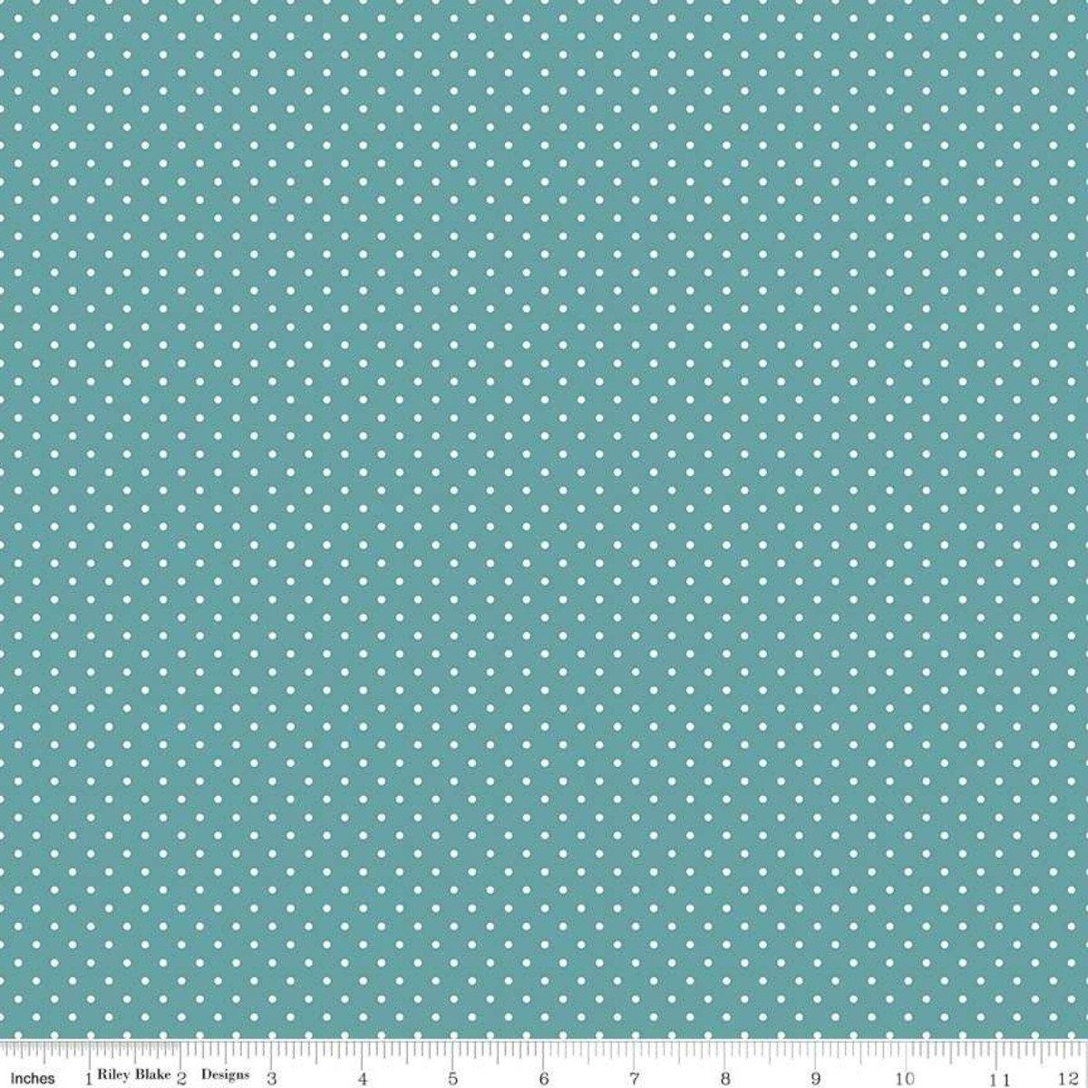 Riley Blake Designs, Swiss Dot - Swiss Dot Teal