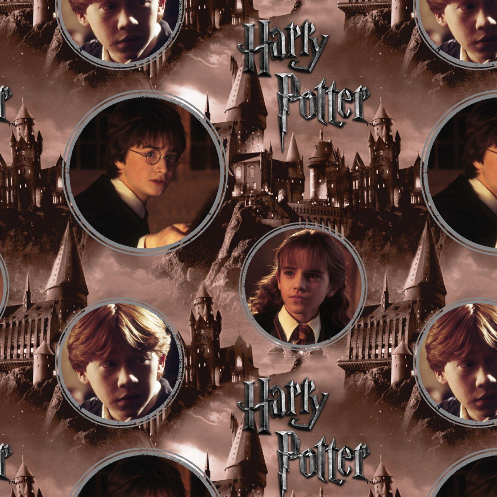 Camelot Fabrics - Harry Potter - Hogwarts Brown