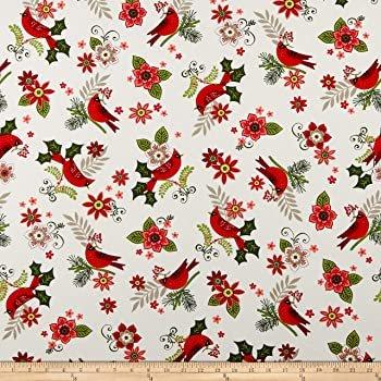 Andover, Metallic Mistletoe - Cardinals White