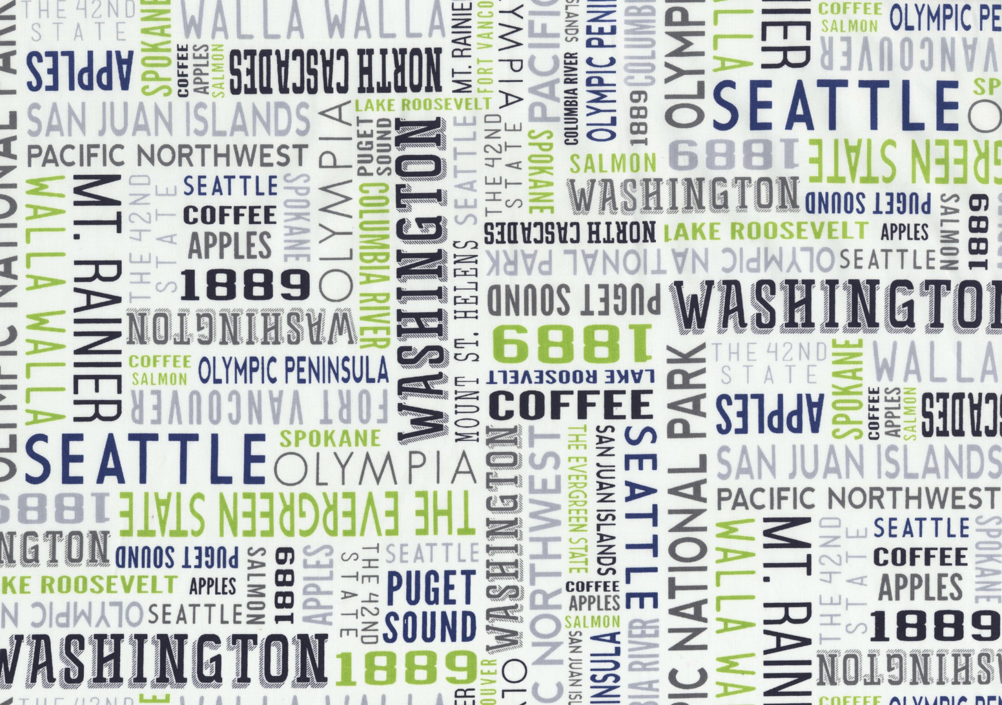 Washington Typography Green