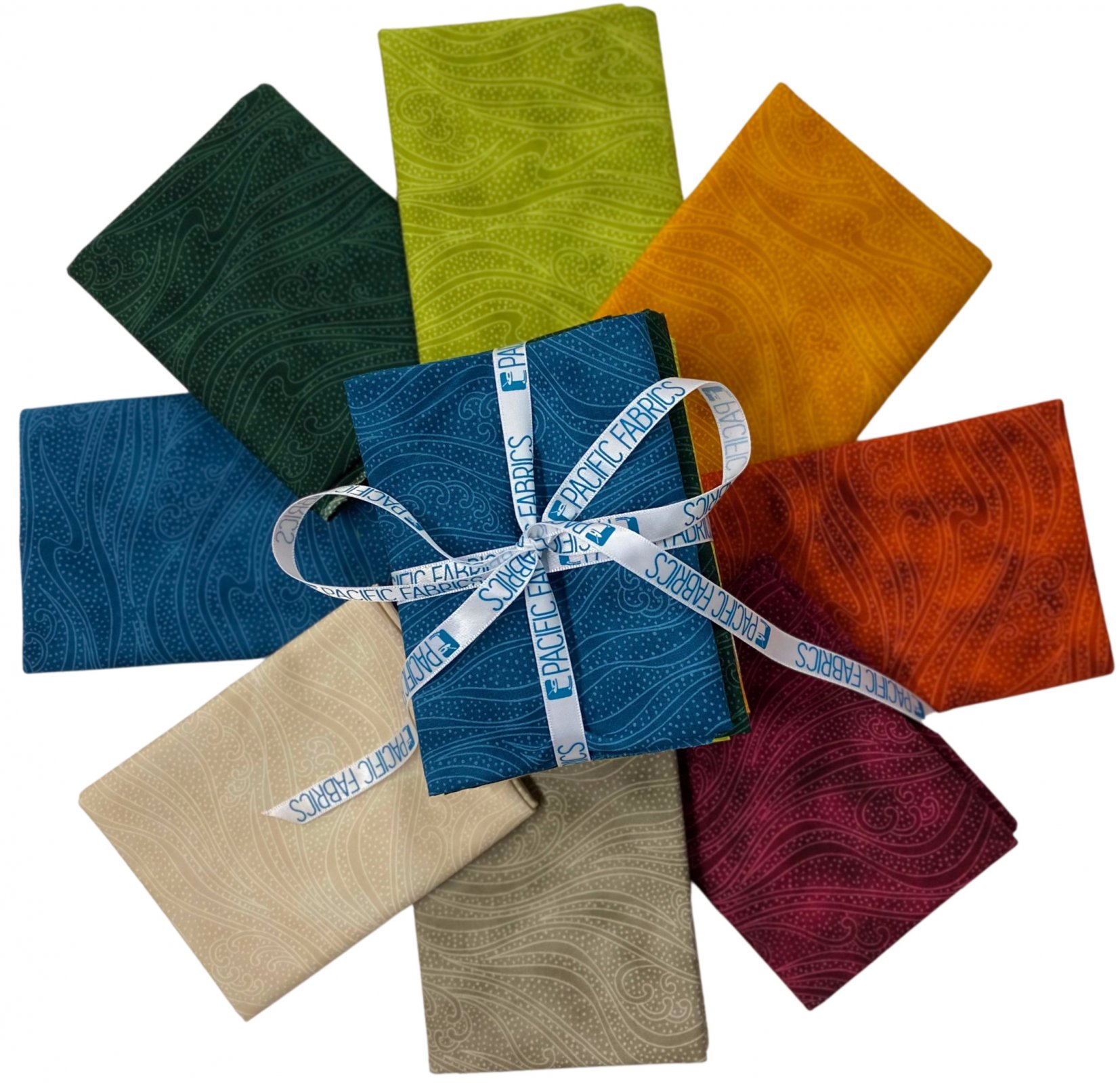 In the Beginning, Color Movement Fat Quarter Bundle #1 8 pc
