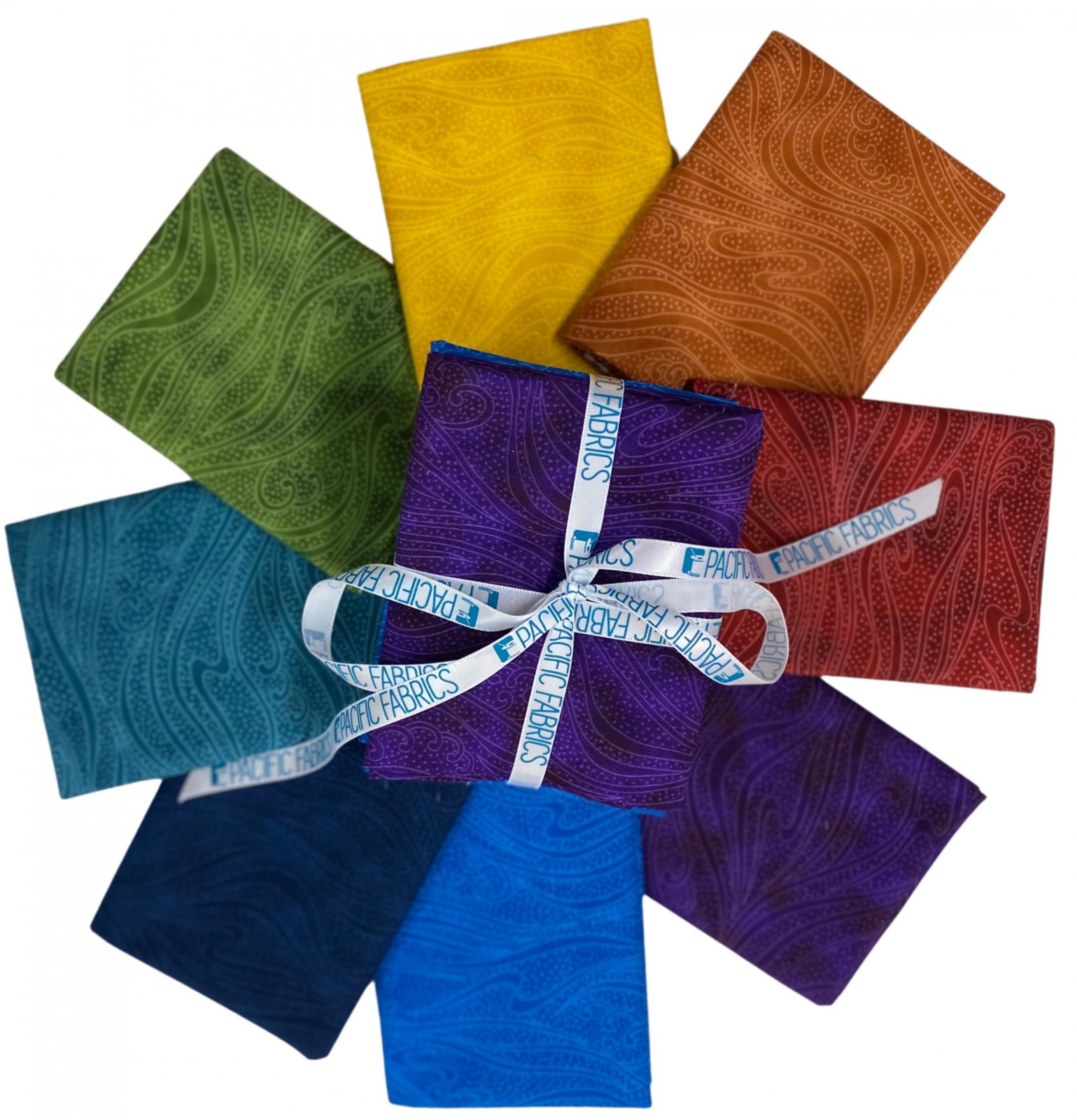 In the Beginning, Color Movement Fat Quarter Bundle #2 8 pc