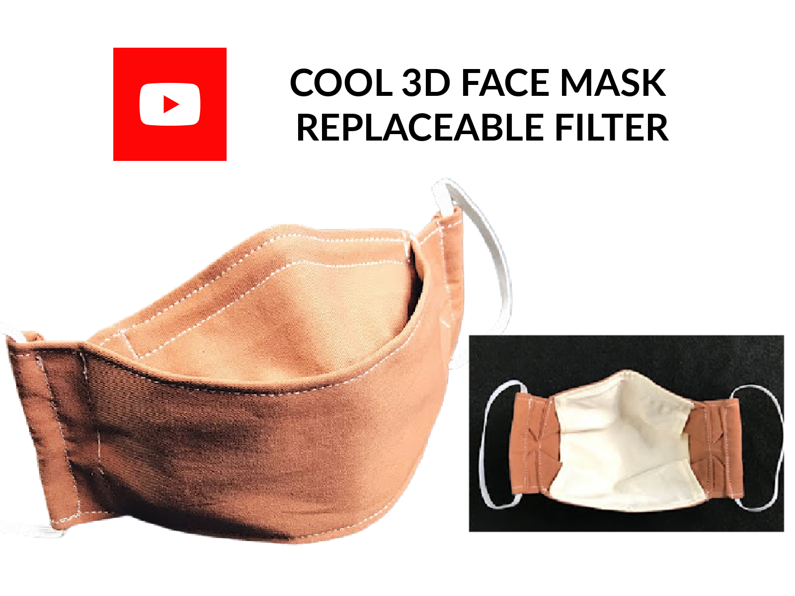 COOL 3D FACE MASK REPLACEABLE FILTER