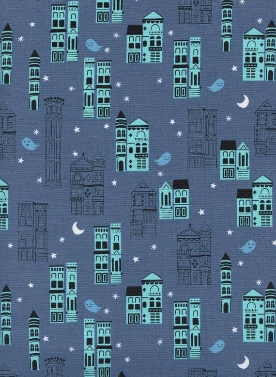 Cotton + Steel, Eclipse Haunted City Blue