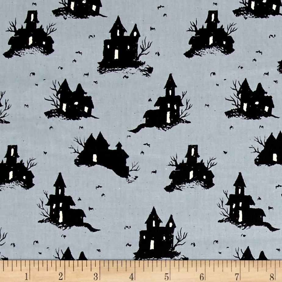 Cotton + Steel, Lil Monsters Trick Treat Grey