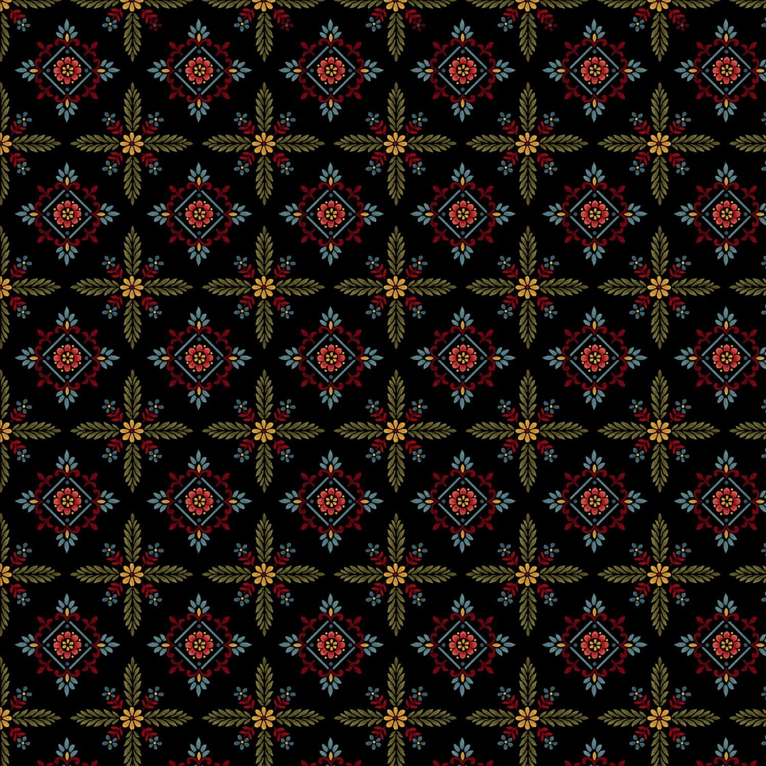 Color Principle by Henry Glass - Count Your Blessings Foulard Hexes Black