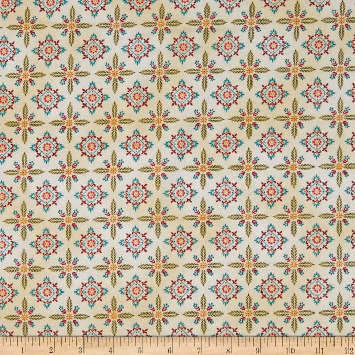 Color Principle by Henry Glass - Count Your Blessings Foulard Hexes Cream