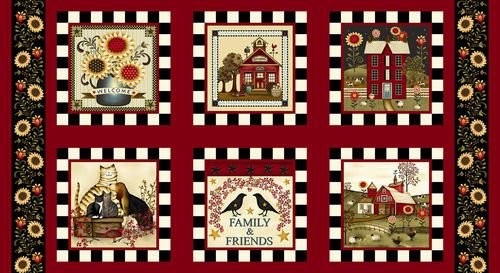 Color Principle by Henry Glass - Count Your Blessings Novelty Blocks Red