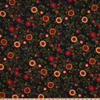 Color Principle by Henry Glass - Count Your Blessings Sunflower Vines Black