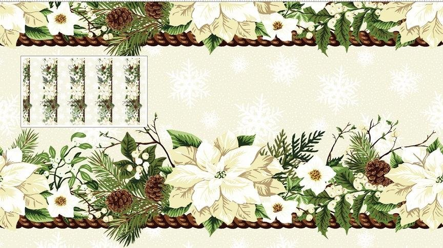 In the Beginning Winter Twist - Cream Border Stripe