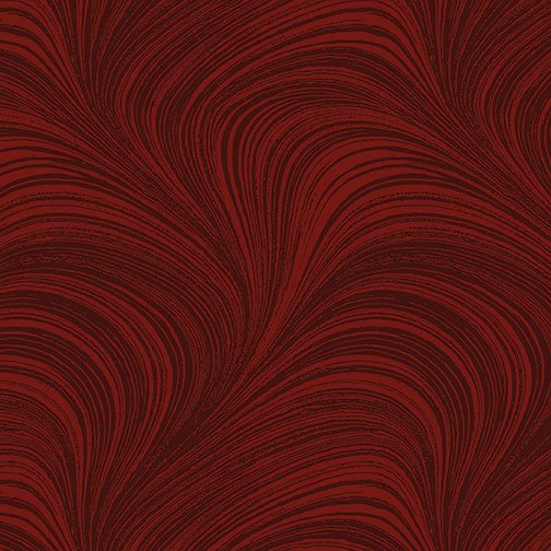 Benartex, WAVE TEXTURE, Dark Red