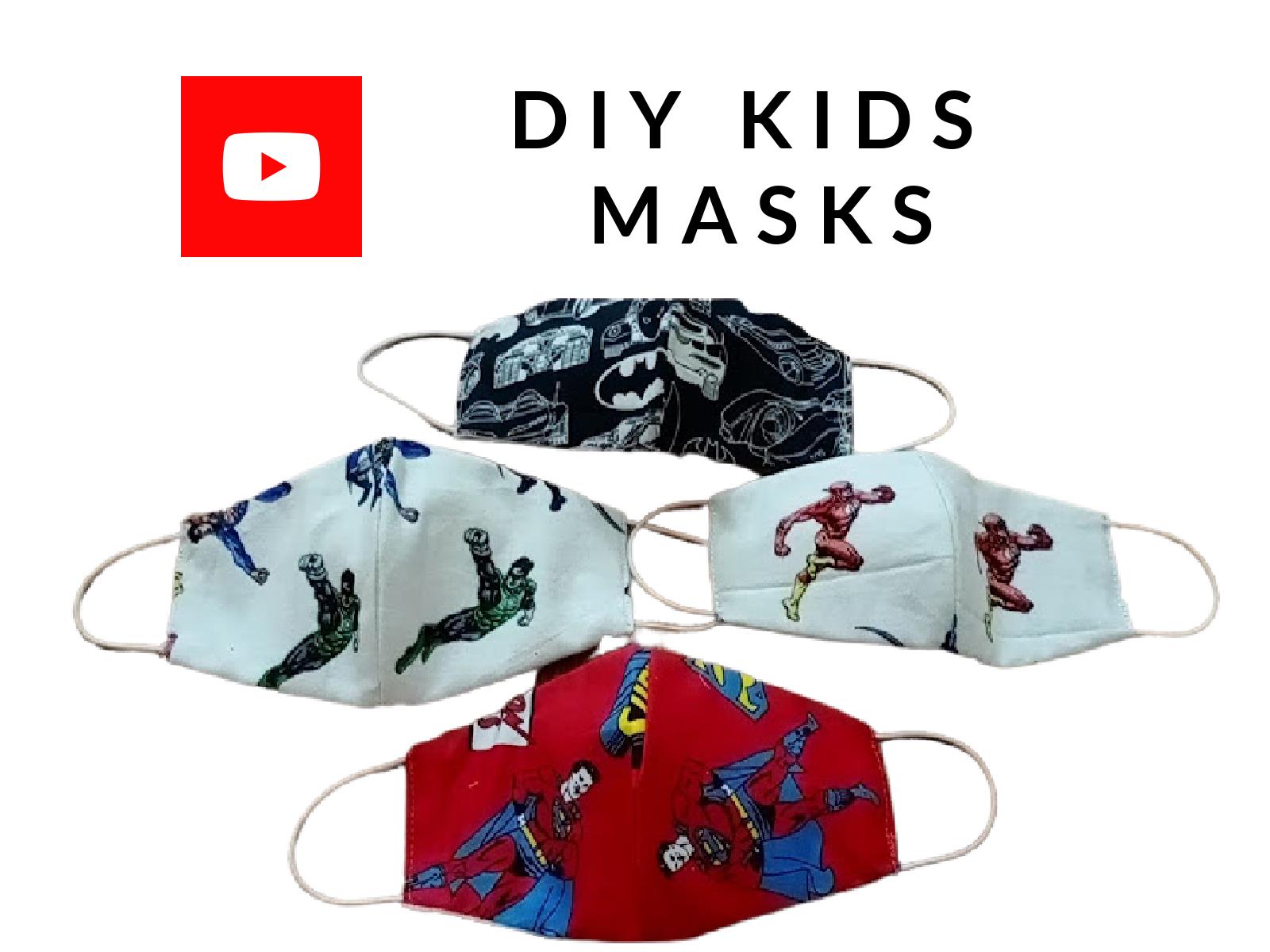 DIY KIDS FACE MASKS