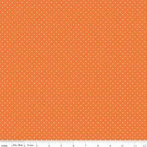 Riley Blake, Play Outside - Dots, Orange