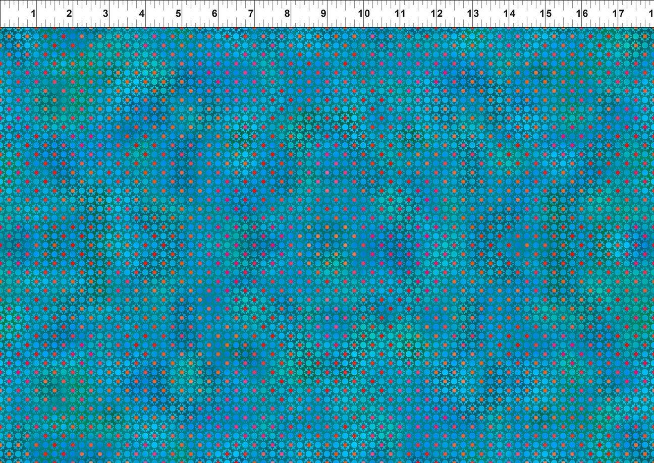 In The Beginning, Unusual Garden II - Dots Turquoise
