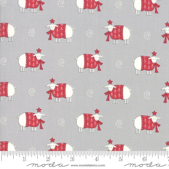 Moda, Country Christmas - Dusty Grey Sheep