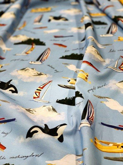 2020 Pacific Fabrics Exclusive -  Around the Sound