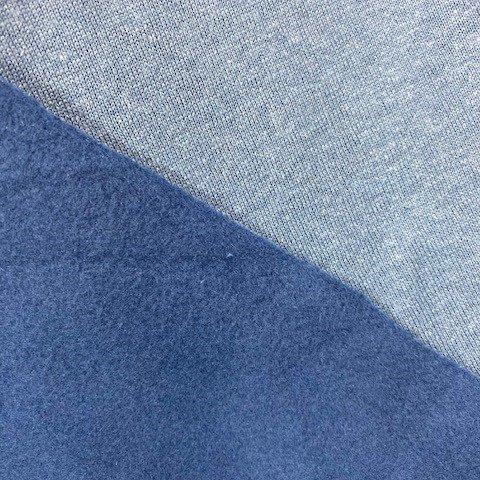 Telio Eco Fleece, Organic Cotton Hemp - Blue