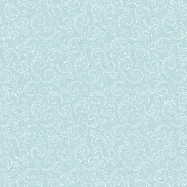 Henry Glass - Flannel I Love Sn'Gnomies  - Aqua Swirl