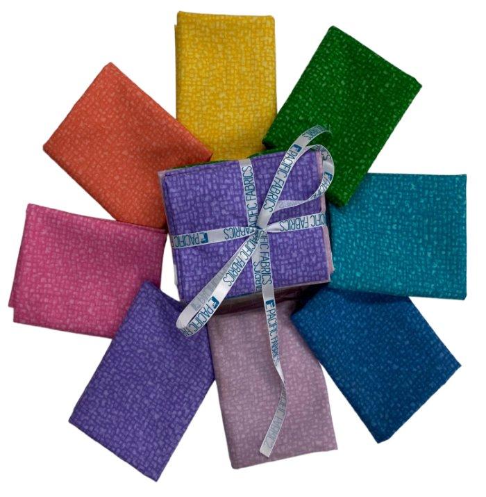 Windham Fabrics, Bedrock Blender Fat Quarter Bundle #1 - 8 pc