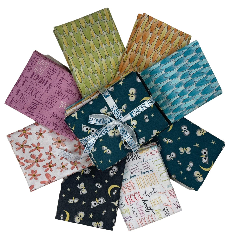 Windham Fabrics, Whoos Hoo, Fat Quarter Bundle - 8 pc
