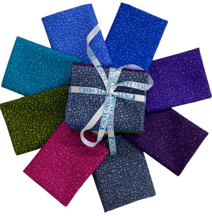 Windham Fabrics, Bedrock Blender Fat Quarter Bundle #2 - 8 pc