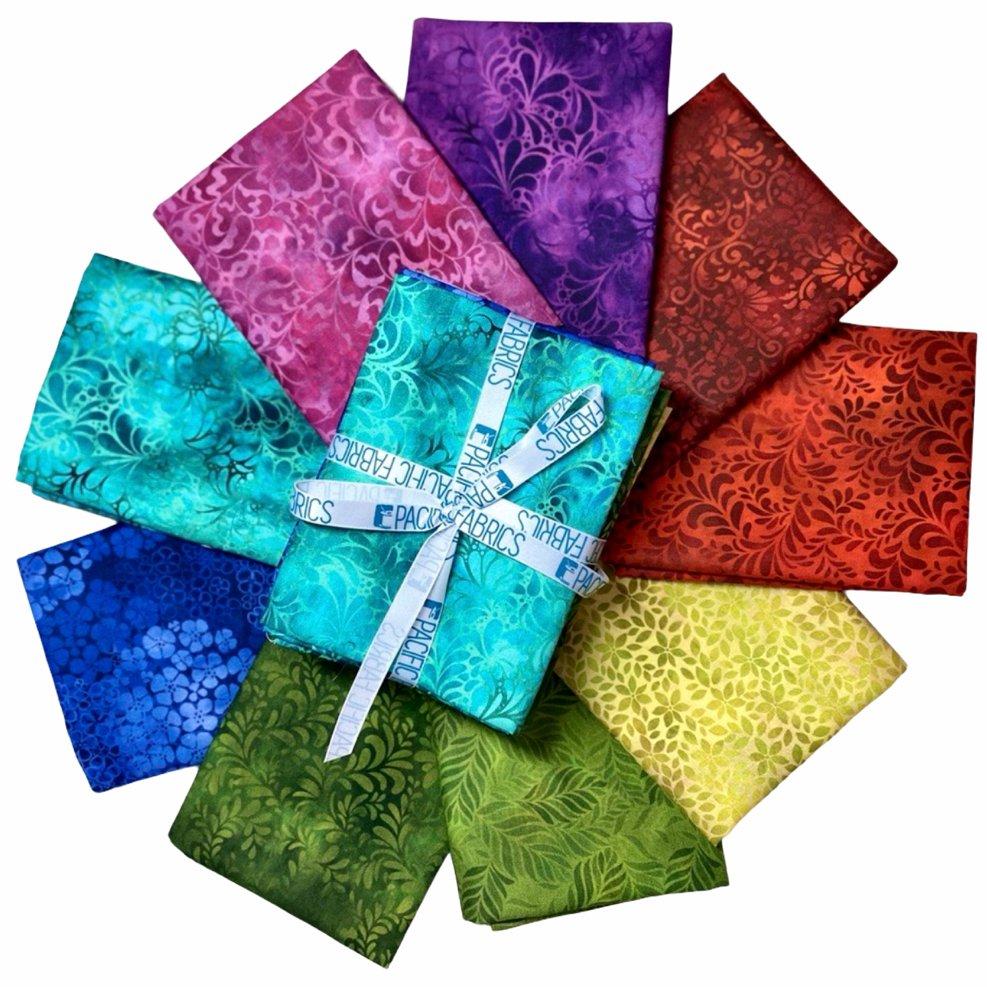 In The Beginning, Rainbow of Jewels Fat Quarter Bundle #2 - 9 pc