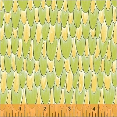 WINDHAM FABRICS, Whoo's Hoo - Feathers - Avocado