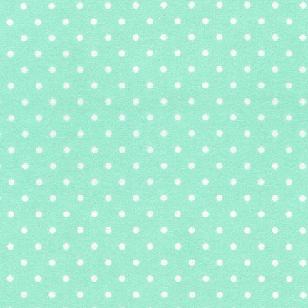 Flannel Dot Mint by Robert Kaufman