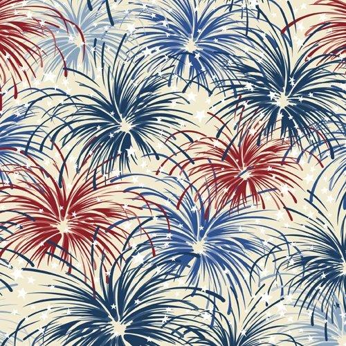 Wilmington Prints, Liberty Lane - Fireworks Cream/Multi
