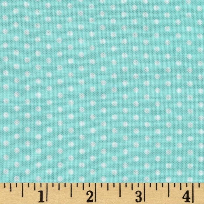 Flannel Dot Aqua by Robert Kaufman