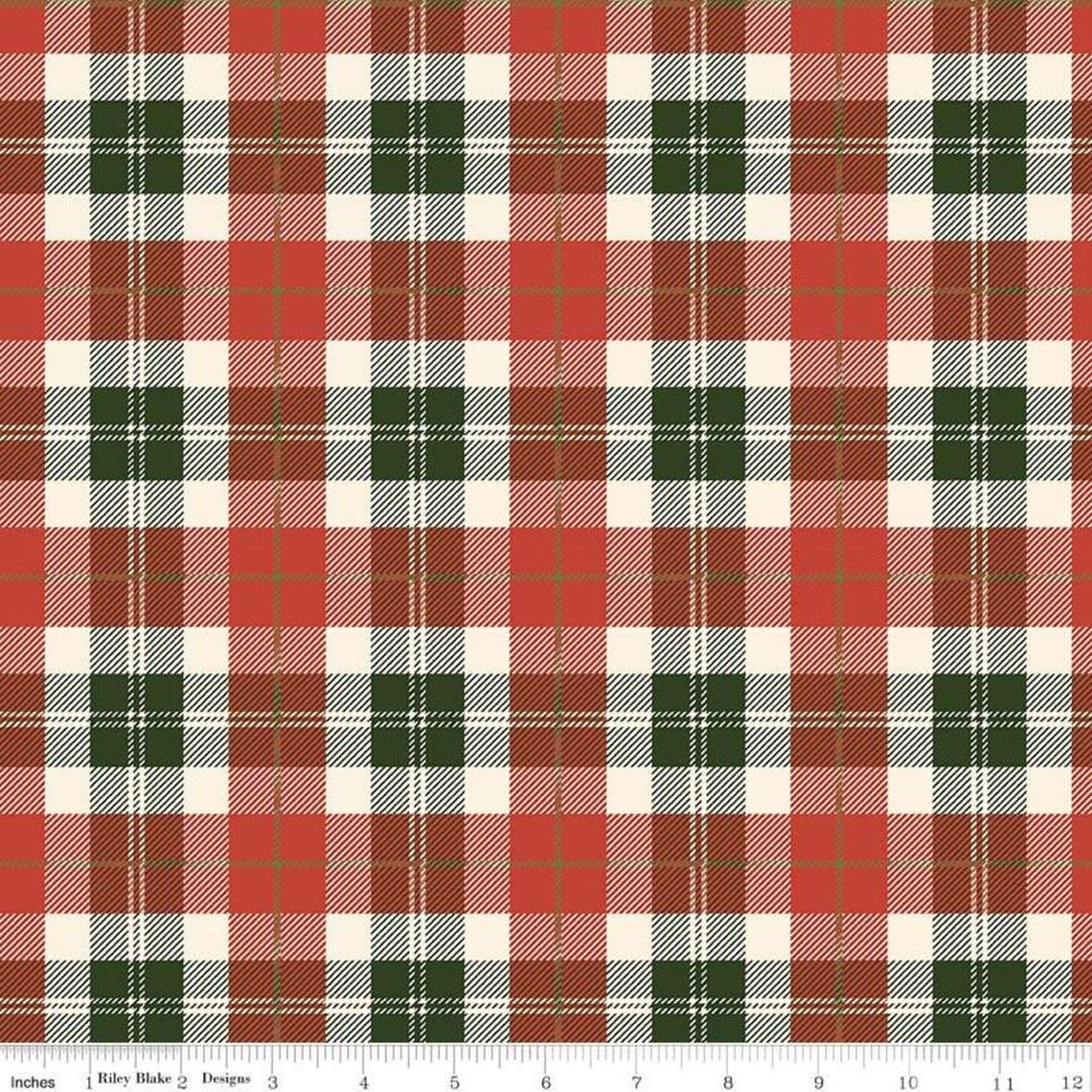 Riley Blake, Flannel Red/Green Plaid