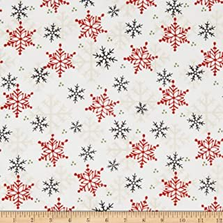 Flannel/Timber Gnomies by Henry Glass  - Snowflake White