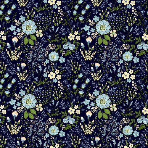 In The Beginning, Garden Delights III, Floral Medley, BLUE