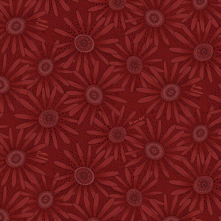 Henry Glass - by Janet Nesbitt - Flower Allover Cranberry