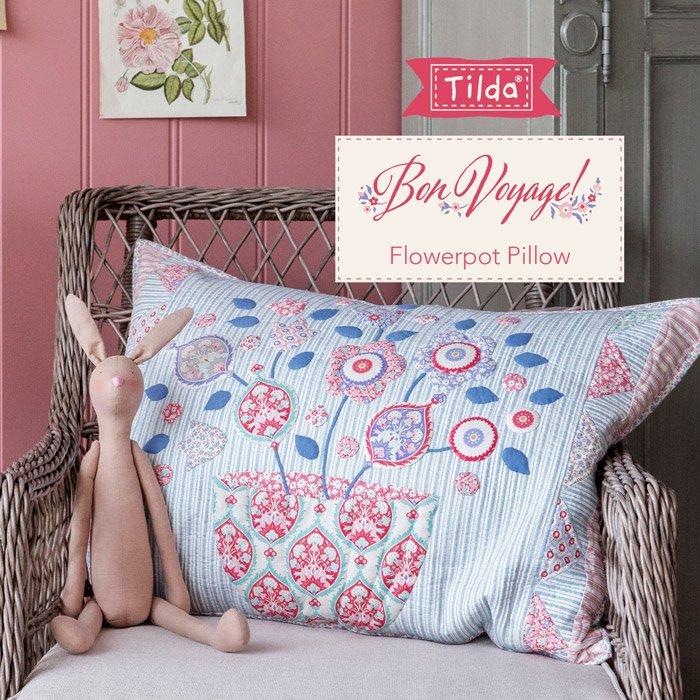 FREE PATTERN! Flower Pot Pillow - Tilda