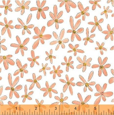 WINDHAM FABRICS, Whoo's Hoo - Flowers Coral