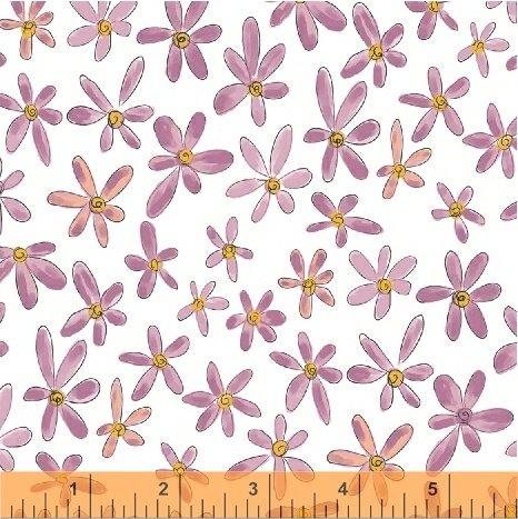 WINDHAM FABRICS, Whoo's Hoo - Flowers - Orchid