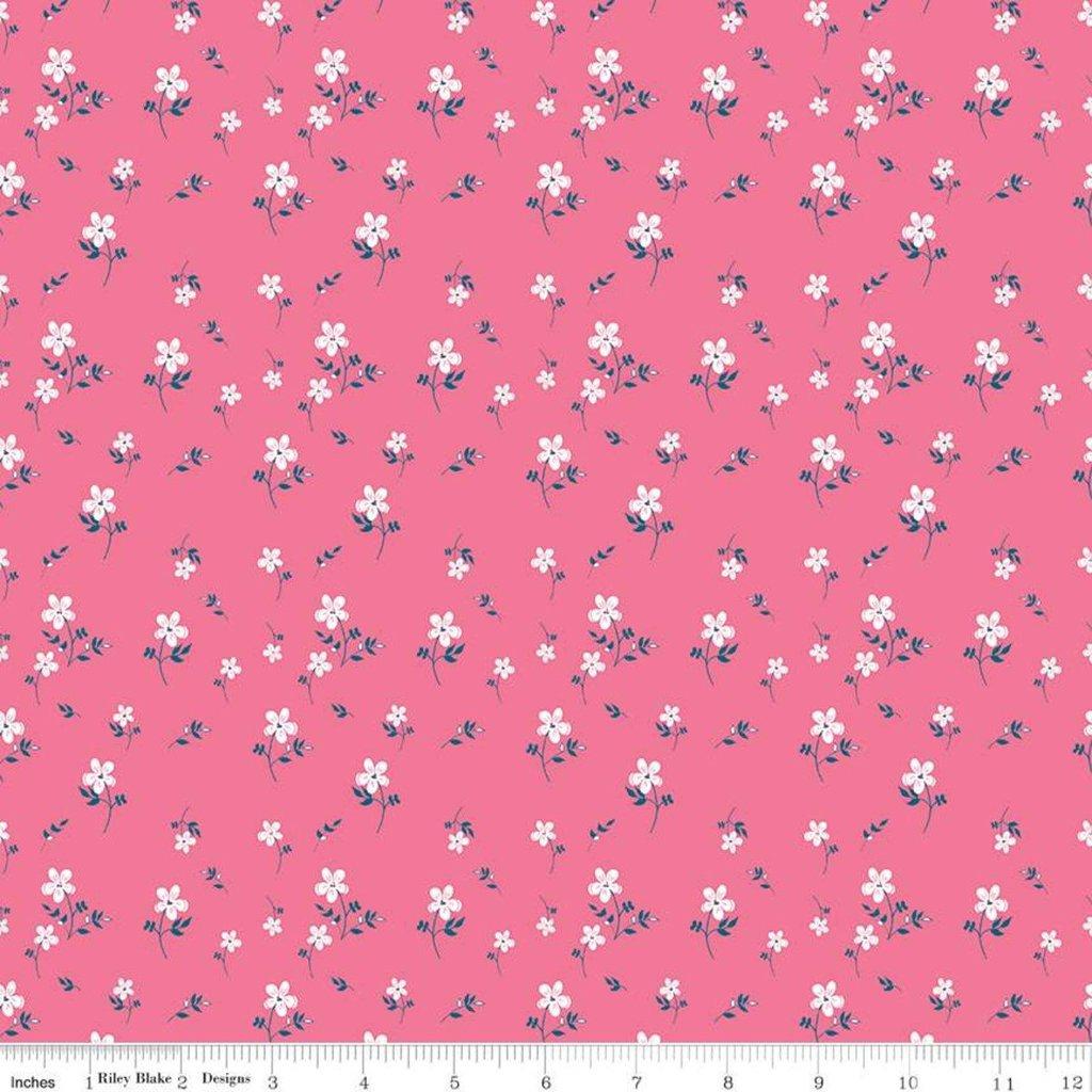 Riley Blake, Play Outside - Flowers, Pink