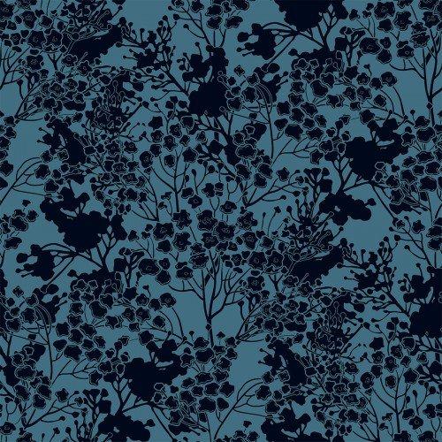 In The Beginning, Garden Delights III, Tonal Floral BLUE