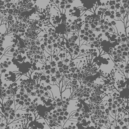 In The Beginning, Garden Delights III, Tonal Floral, GREY