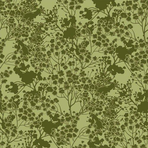 In The Beginning, Garden Delights III, Tonal Floral GREEN