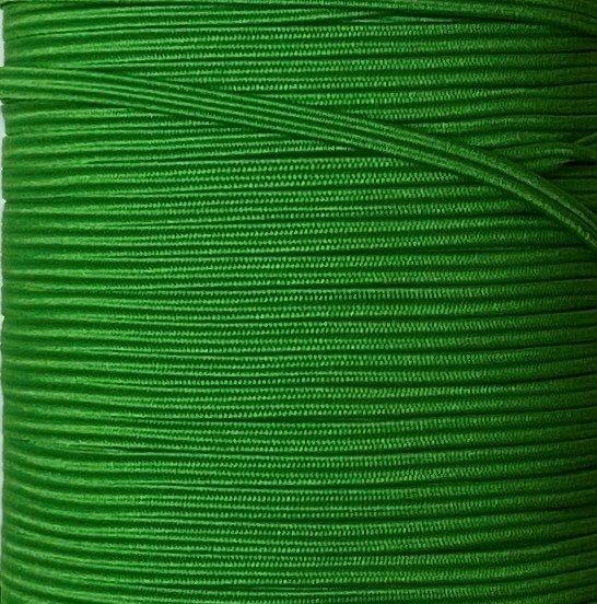 1/8 inch Braided Elastic EMERALD - 10 yards