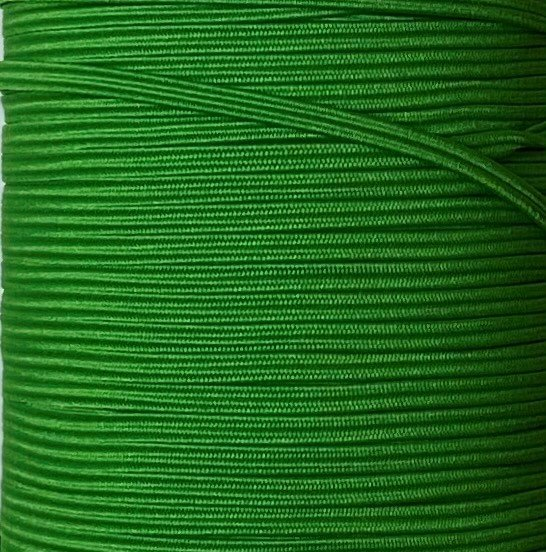 1/8 inch Braided Elastic EMERALD - 10 yards