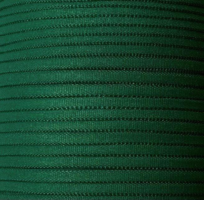 1/6 inch Banded Tube Elastic DARK GREEN - 10 yards