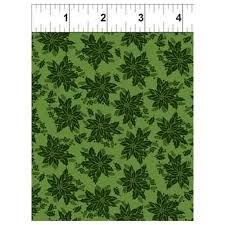 In the Beginning Winter Twist - Green Tonal Floral
