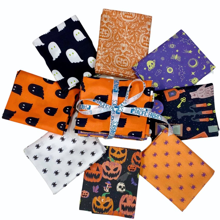 Paintbrush Studio Fabrics - Halloween Fat Quarter Bundle- 8 PC