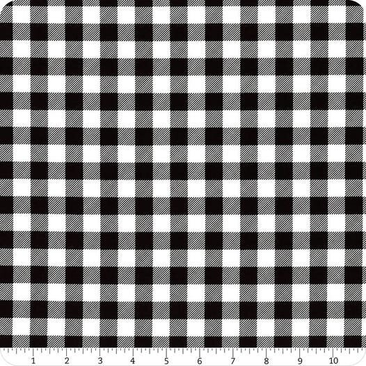 Flannel/Timber Gnomies by Henry Glass - Black/White Buffalo Check Flannel