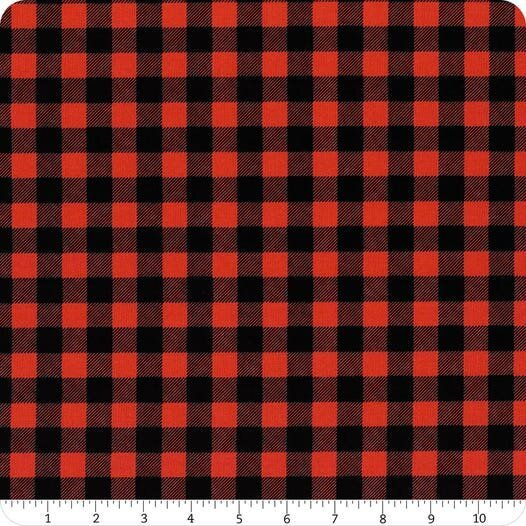 Flannel/Timber Gnomies by Henry Glass - Red/Black Buffalo Check Flannel