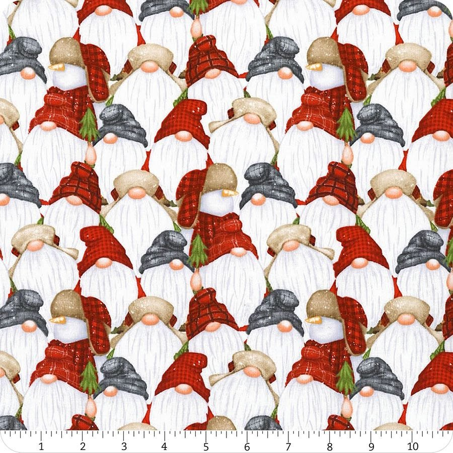 Flannel/Timber Gnomies by Henry Glass - Stacked Gnomes Multi Flannel